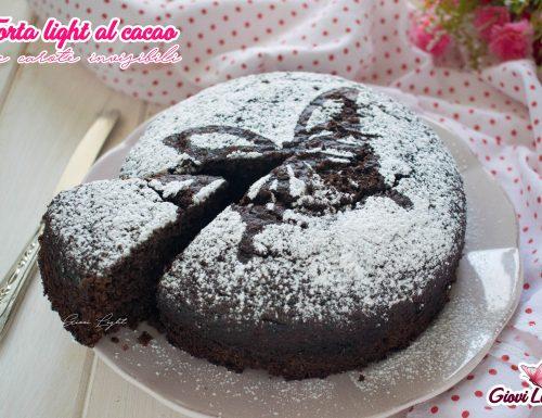 Torta light al cacao e carote invisibili
