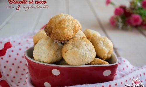 Biscotti al cocco con 3 ingredienti