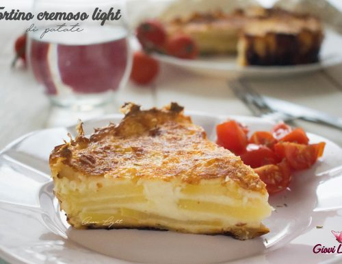 Tortino cremoso light di patate