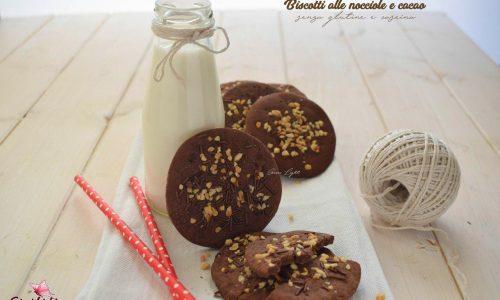 Biscotti alle nocciole e cacao senza glutine e caseina