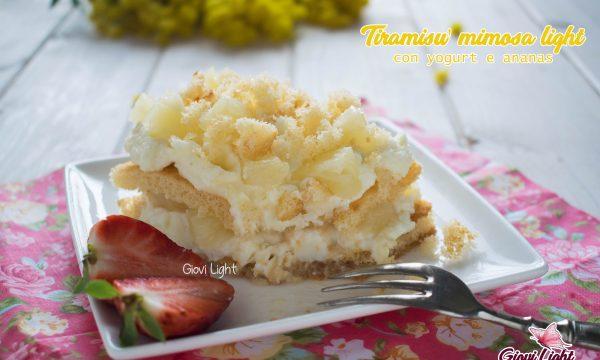 Tiramisù mimosa light, con yogurt e ananas