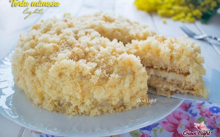 Torta mimosa light con il bimby e senza
