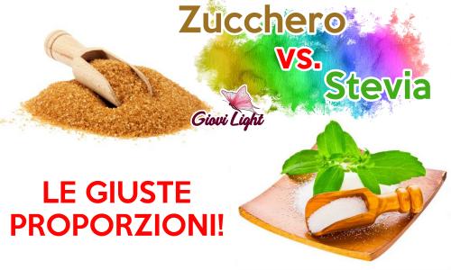 Conversione Zucchero/Stevia – LE GIUSTE PROPORZIONI!