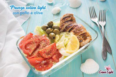 Pranzo estivo light con pollo e olive