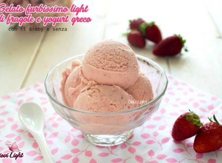 Gelato furbissimo light di fragole e yogurt greco, con il Bimby e senza