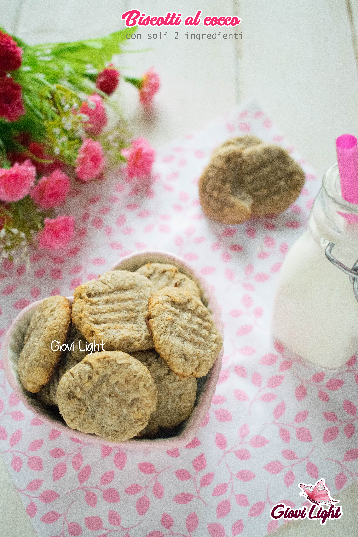 Biscotti al cocco con 2 ingredienti