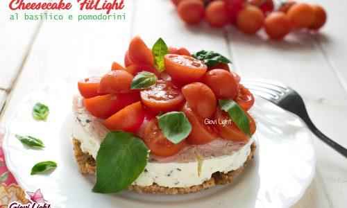 Cheesecake FitLight al basilico e pomodorini