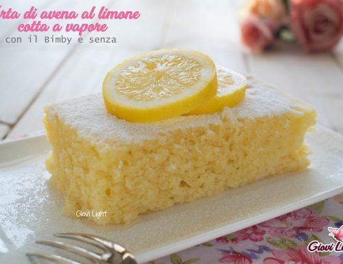Torta di avena al limone cotta a vapore – con il Bimby e senza