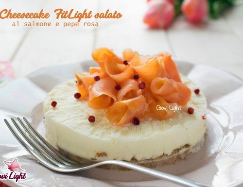 Cheesecake FitLight salato al salmone e pepe rosa