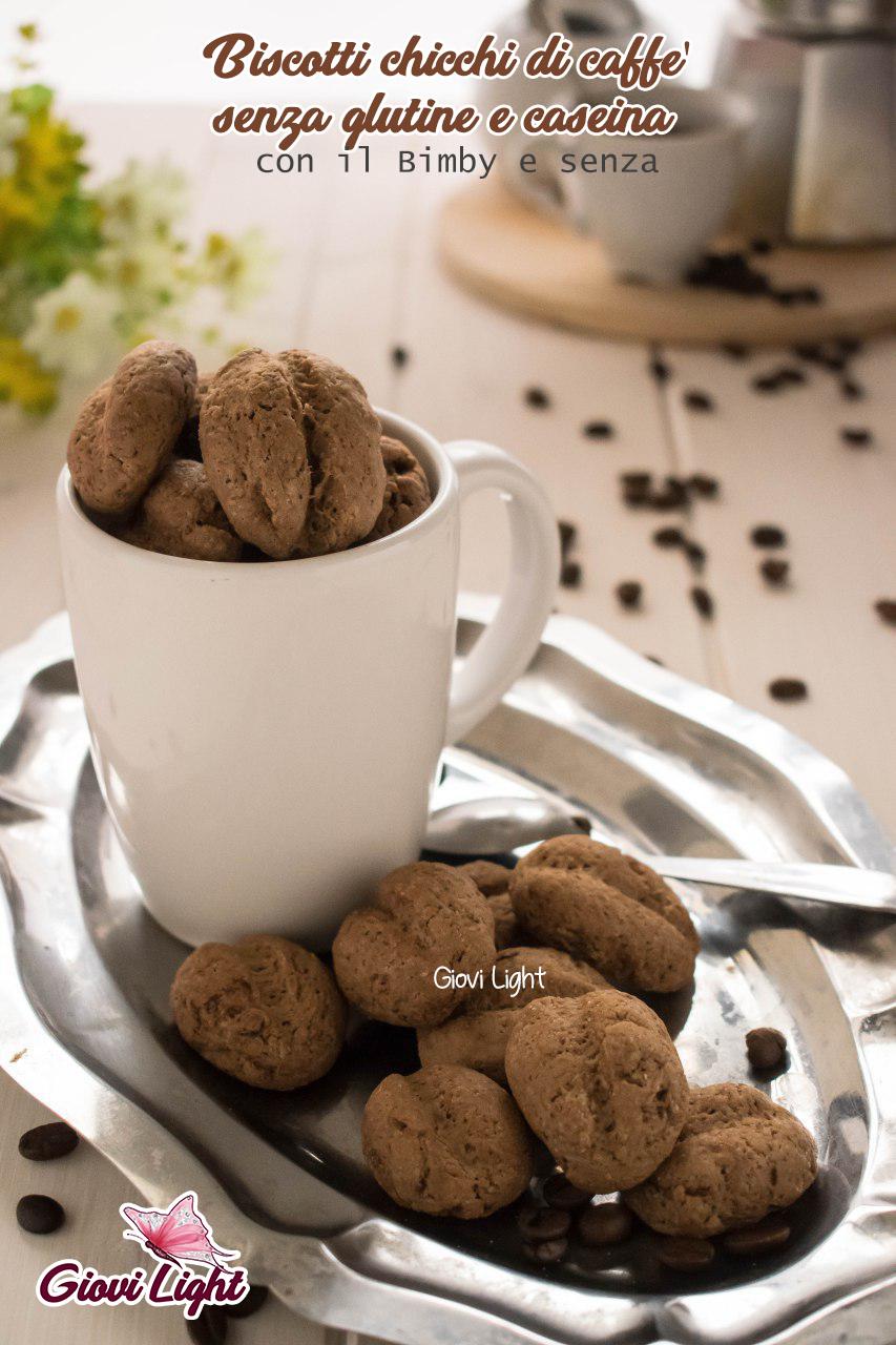 Biscotti chicchi di caffè senza glutine e caseina - con il Bimby e senza