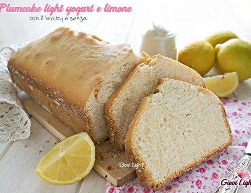 Plumcake light yogurt e limone senza zucchero, uova e burro – con il bimby e senza