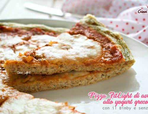 Pizza FitLight di avena allo yogurt greco – con il Bimby e senza