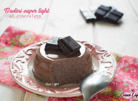 Budini super light al cioccolato -  senza zucchero, pochissimi grassi e a basso ig!