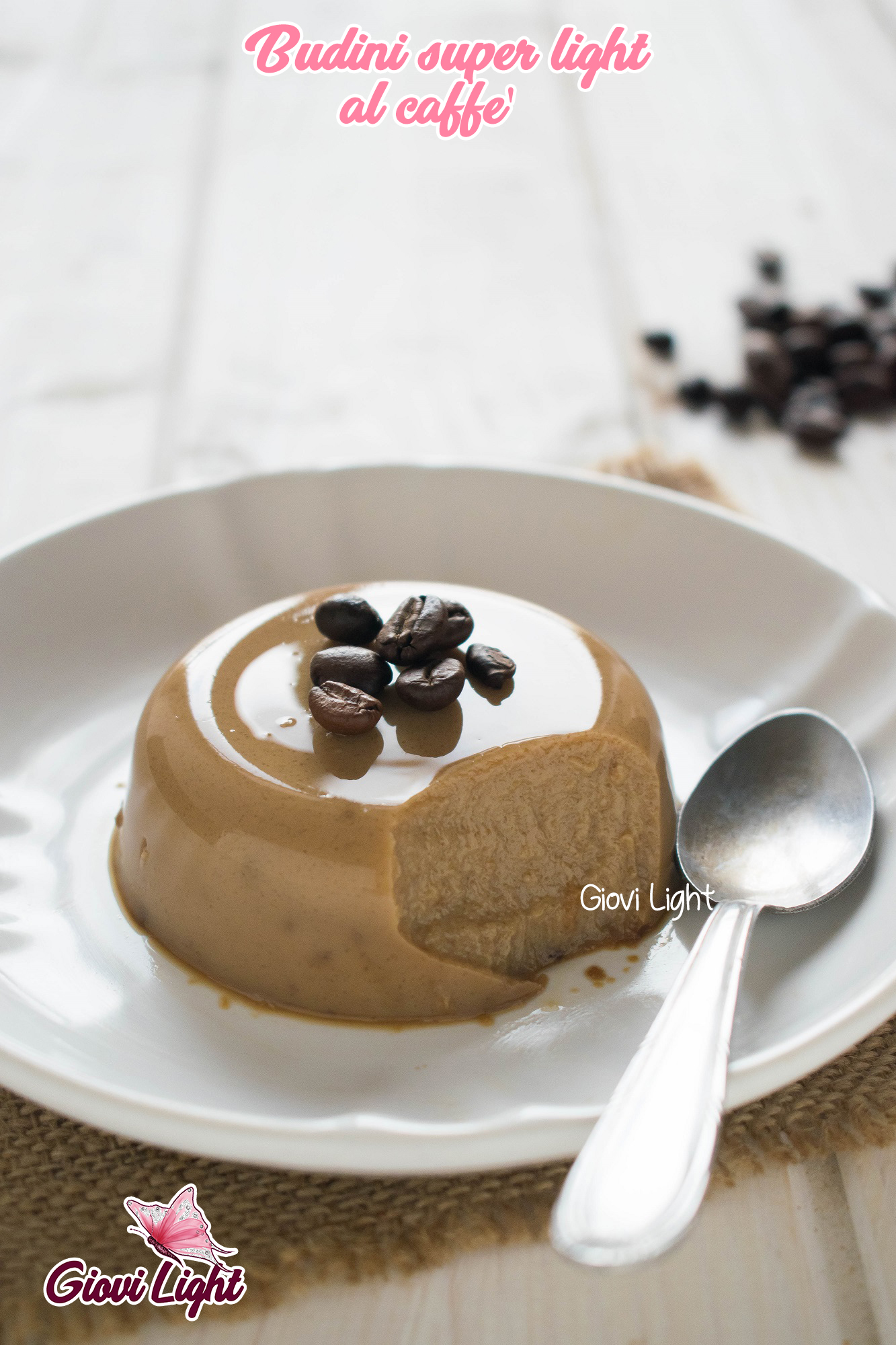 Budini super light al caffè - senza grassi, zucchero e a basso ig!