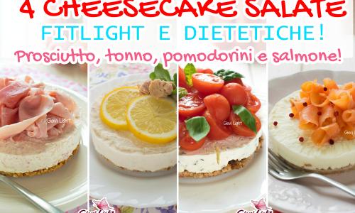 4 CHEESECAKE SALATE FITLIGHT E DIETETICHE! Prosciutto, tonno, pomodorini e salmone!