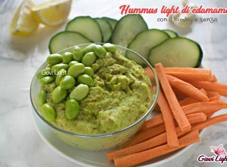 Hummus light di edamame - con il bimby e senza