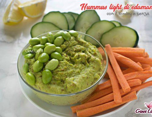Hummus light di edamame – con il bimby e senza