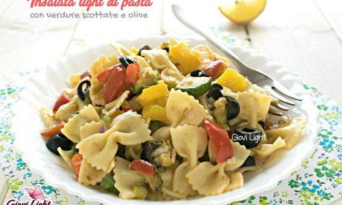 Insalata light di pasta con verdure scottate e olive