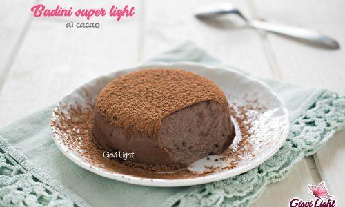 Budini super light al cacao – senza grassi, zucchero + basso ig