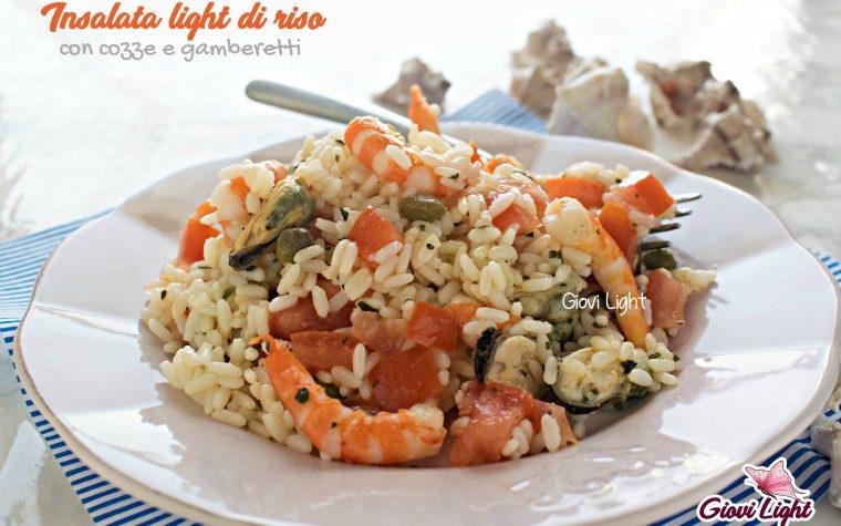 Insalata light di riso con cozze e gamberetti