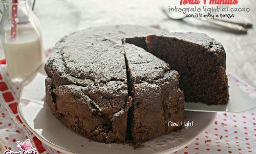 Torta 1 minuto integrale light al cacao – con il bimby e senza