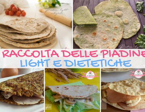 RACCOLTA DELLE PIADINE LIGHT E DIETETICHE!