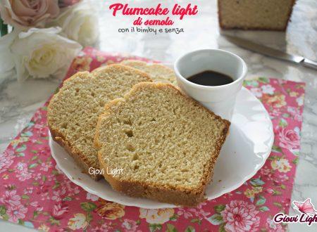 Plumcake light di semola - con il bimby e senza