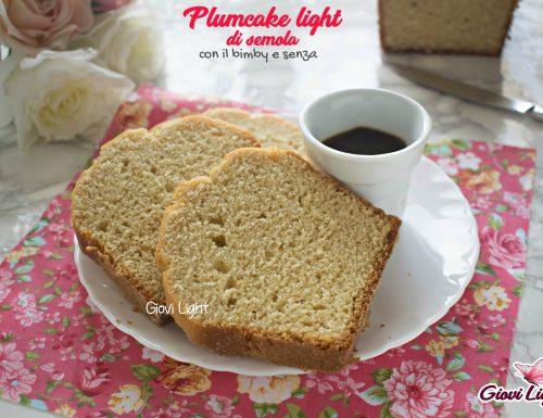 Plumcake light di semola – con il bimby e senza