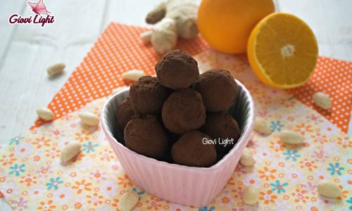 Tartufi all'arancia, cioccolato e mandorle