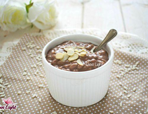 Risolatte light al cacao con il bimby e senza