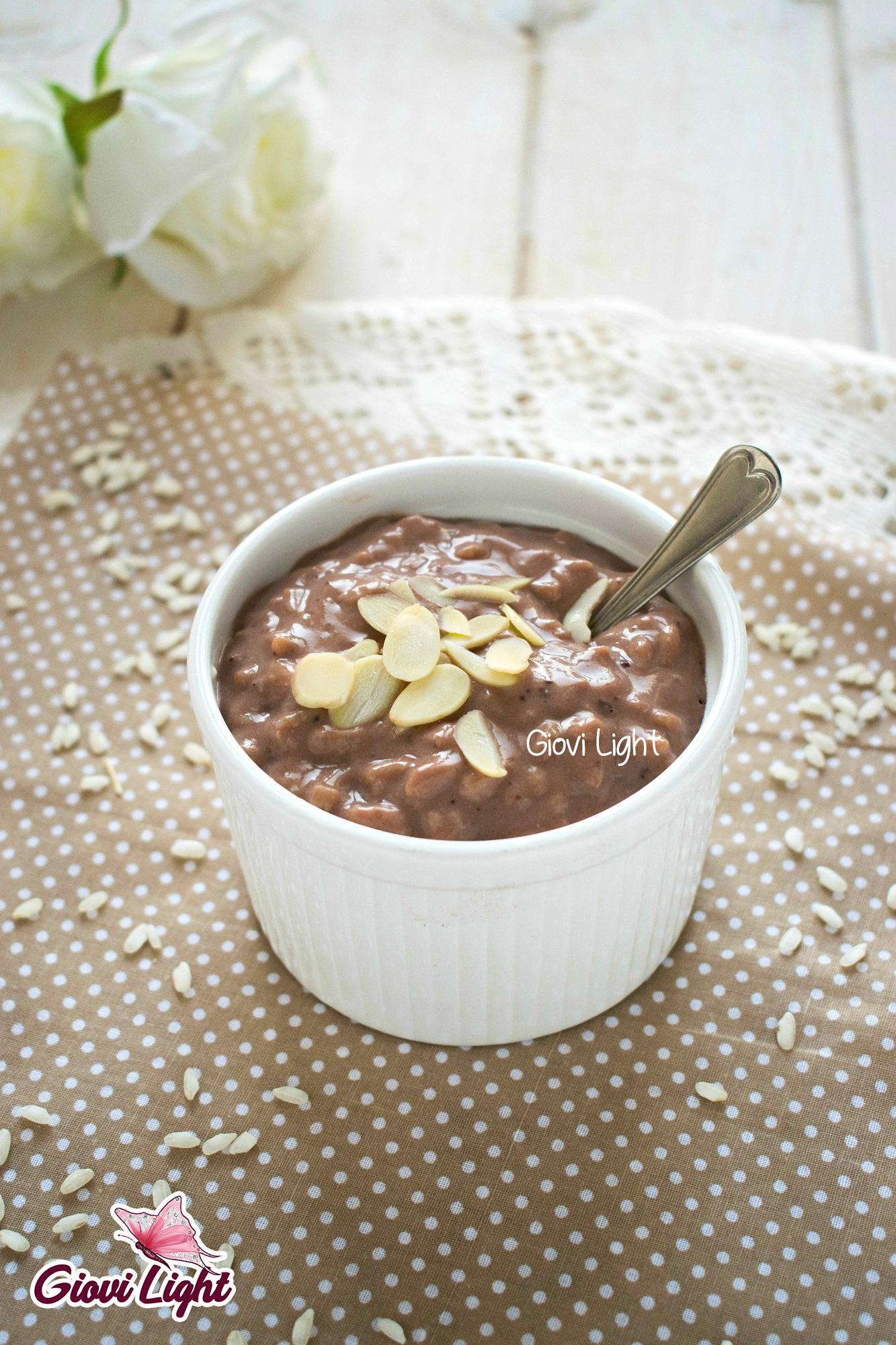 Risolatte light al cacao e cannella - senza glutine, caseina, zucchero e grassi!