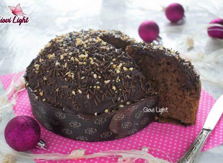 Torta panettone light al cioccolato, senza zucchero, burro e lievitazione - con il bimby e senza