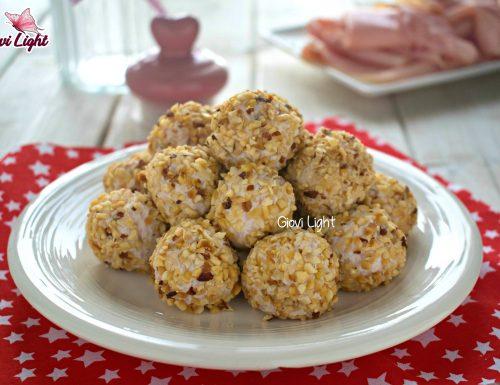 Praline salate light al prosciutto e nocciole con il bimby e senza