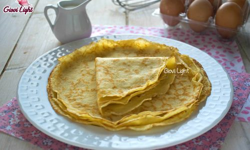 Crepes light – base leggera per farciture dolci o salate