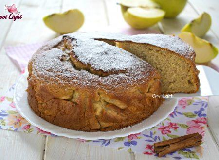 Torta integrale light alle mele invisibili - con il bimby e senza