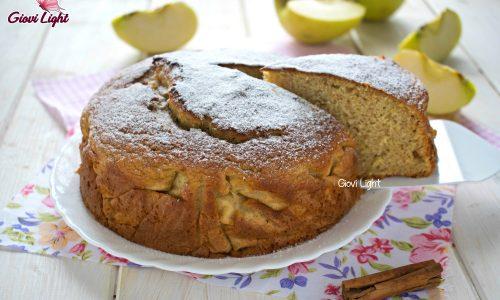 Torta integrale light alle mele invisibili – con il bimby e senza