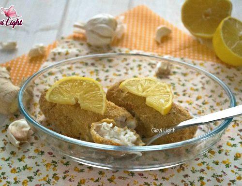 Cuori di merluzzo gratinati LIGHT al limone NELLA FRIGGITRICE AD ARIA