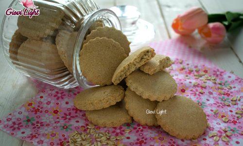 Biscotti fitlight di avena al limone