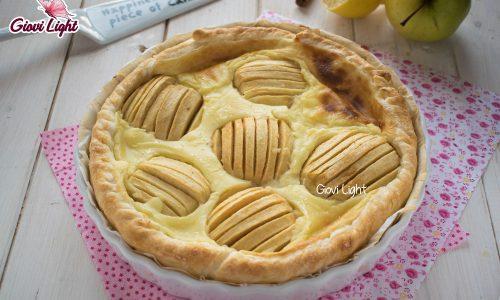 Crostata light di mele e crema pasticcera