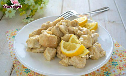 Pollo light e cremoso al limone con il bimby e senza