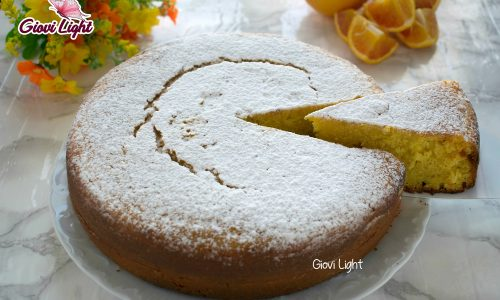 Pan d'arancio light senza zucchero, uova e latte – con il bimby e senza