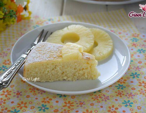 Torta light all'ananas – con il bimby e senza
