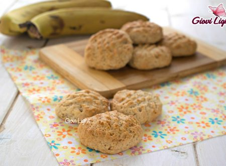 Biscotti light alla banana, senza zucchero, latte e uova - con il bimby e senza