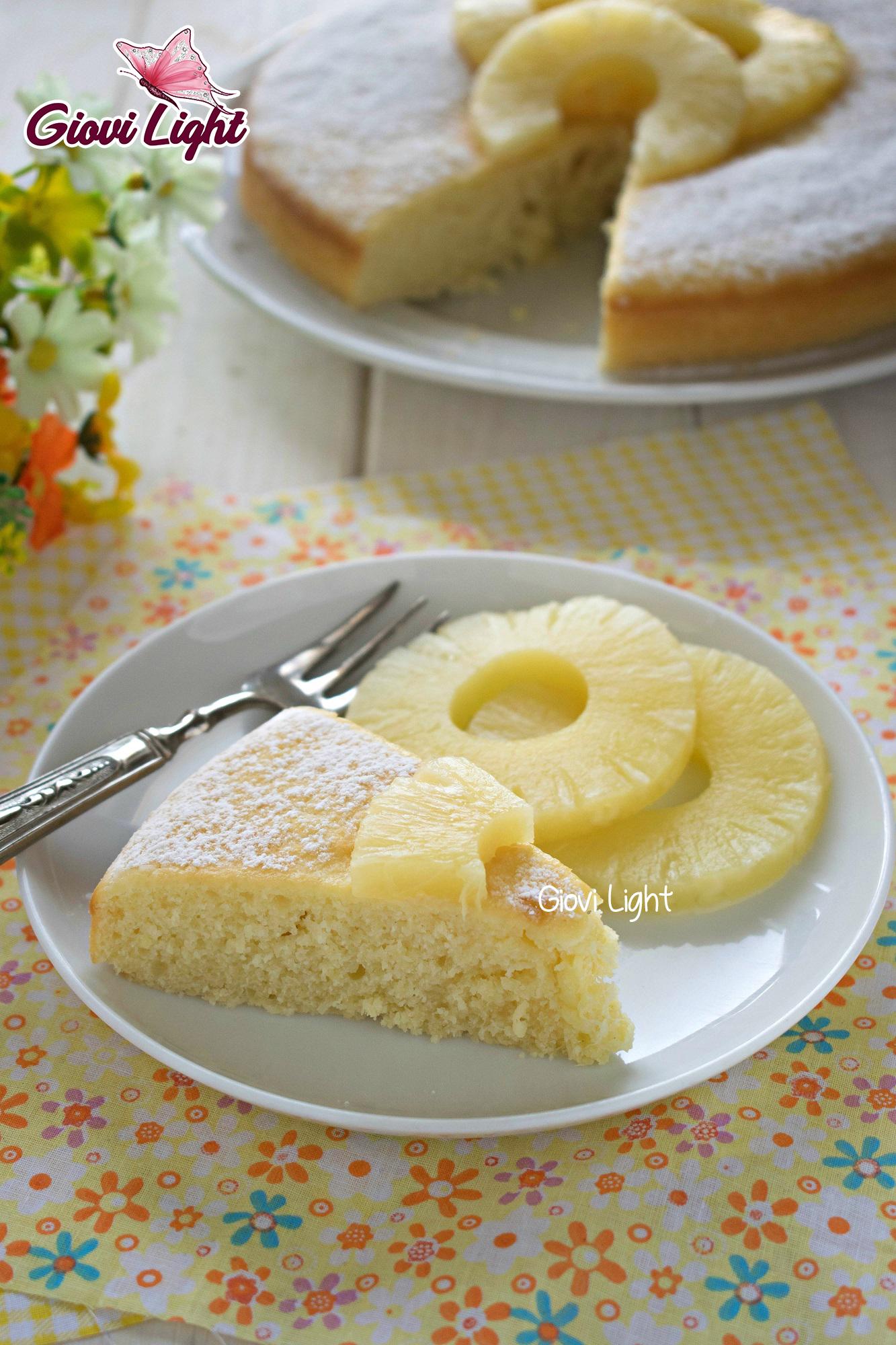Torta Light Bimby.Torta Light All Ananas Con Il Bimby E Senza