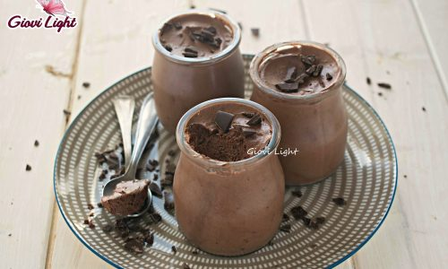 Mousse super light di acqua e cioccolato
