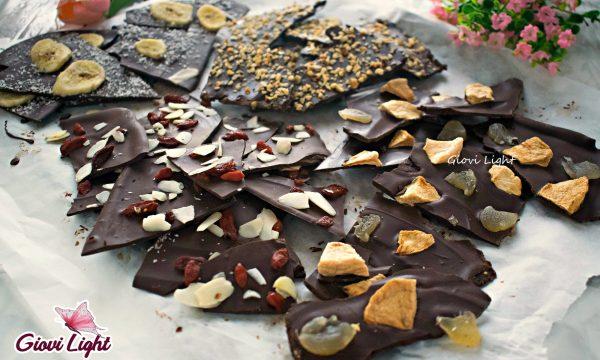 Healthy chocolate bark