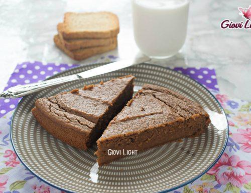 Torta light di fette biscottate al cacao con il bimby e senza