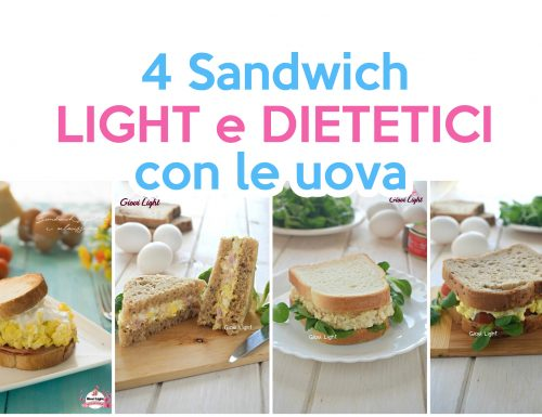 4 sandwich LIGHT E DIETETICI con le uova
