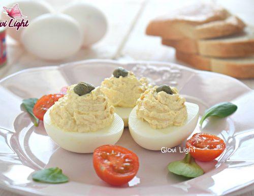 Uova farcite con crema di tonno light – con il bimby e senza
