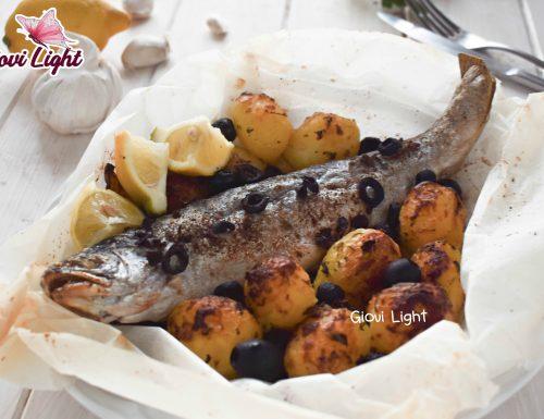 Trota light con patate e olive CON LA FRIGGITRICE AD ARIA e senza